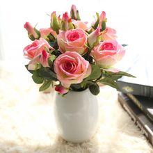 2 unids/lote, venta directa de fábrica, flores de Acacia rosa de terciopelo con hojas y capullos para Arreglo con flores artificiales, Envío Gratis