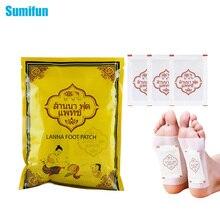10 parches de desintoxicación Sumifun de Tailandia LANNA para el pie, adhesivos para eliminar toxinas que mantienen el ajuste, parches herbales orgánicos C122