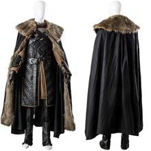 GoT 7 Game of Thrones Cosplay saison 7 Jon neige Costume manteau Long Cape tenue ensembles complets Cosplay Costume sur mesure