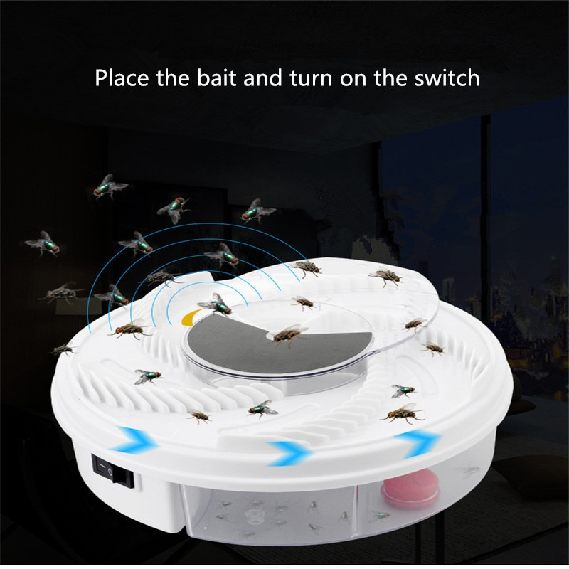 Electric Effective Fly Trap Pest Device Insect Catcher Automatic Flycatcher Fly Trap Catching Artifacts Insect Trap Usb plug недорого