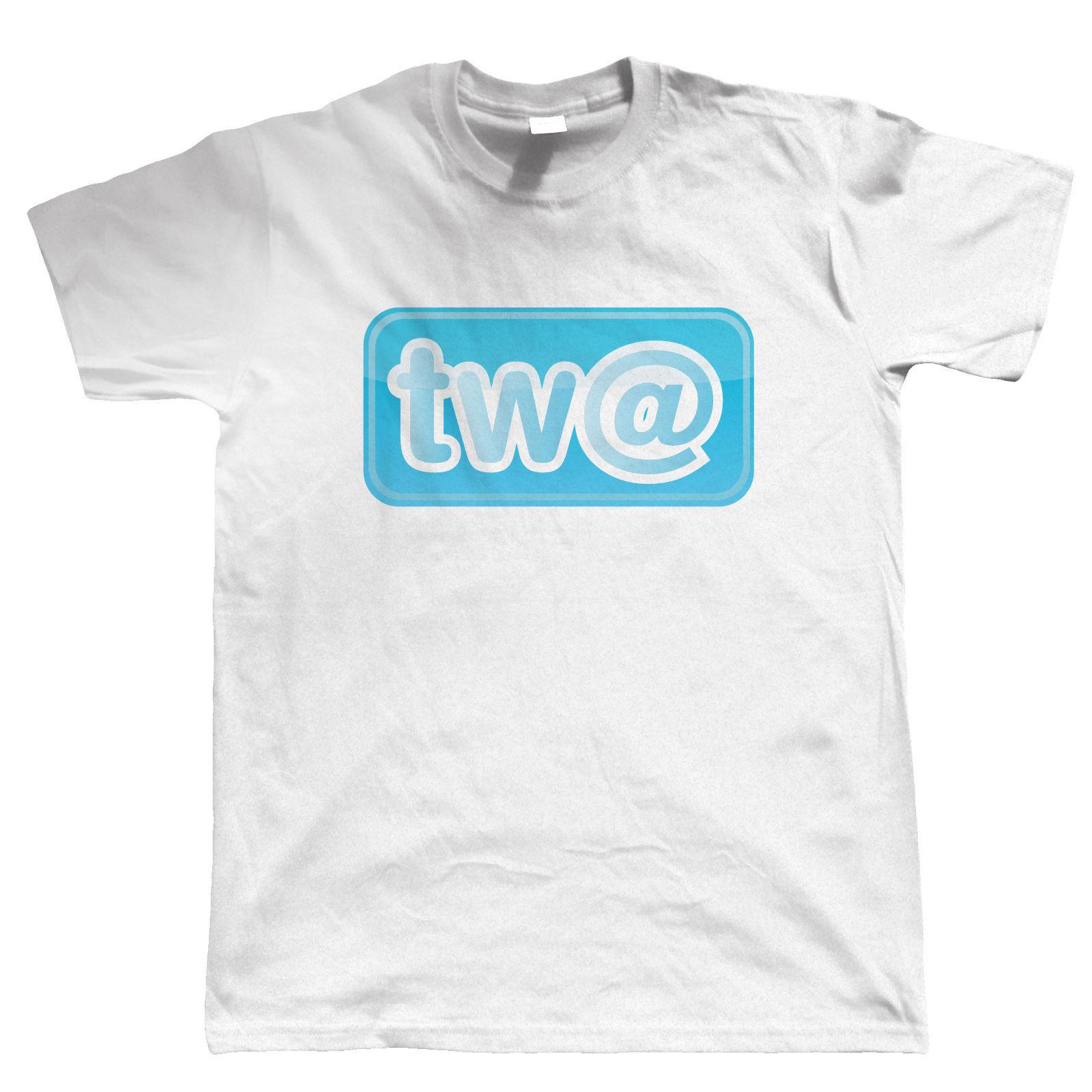 2019 Venta caliente 100% algodón TW @, camiseta de lema divertido para hombres