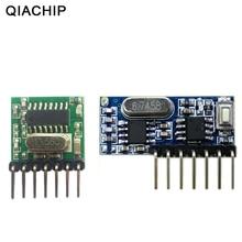 QIACHIP 433 МГц Беспроводной широкий Напряжение кодирования передатчик + декодирования приемник на 4 канала Выход модуль 433 МГц для дистанционного управления