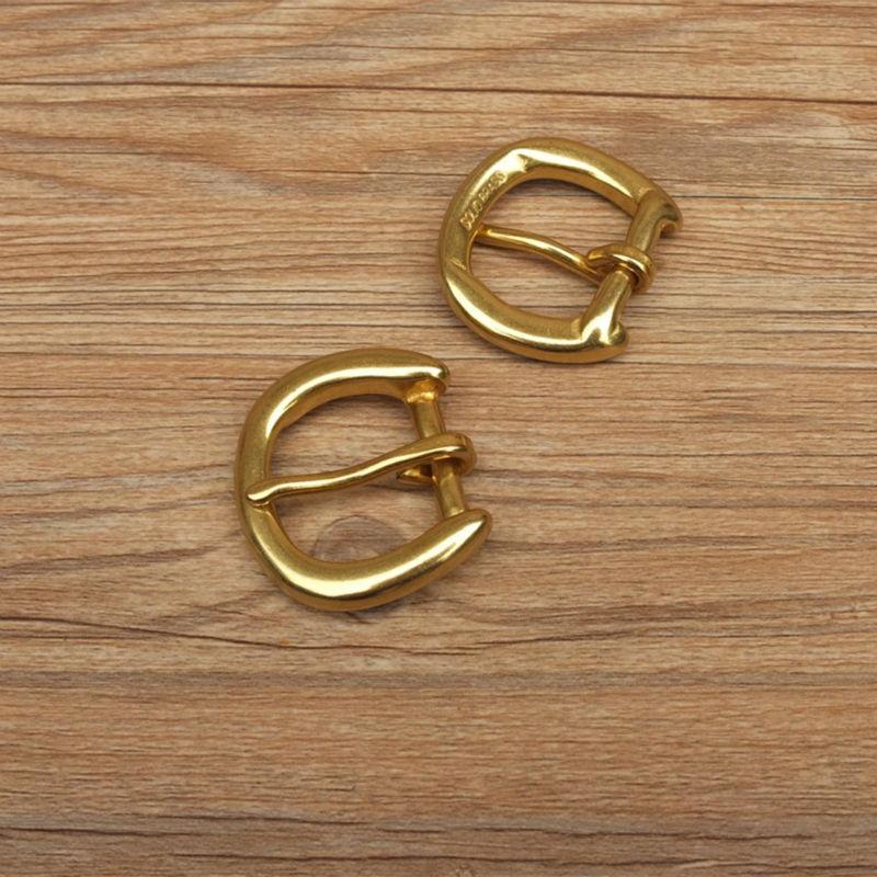 Hardware leathercraft diy 20mm bor latão cinto de fivela pin fivela #902650-b20