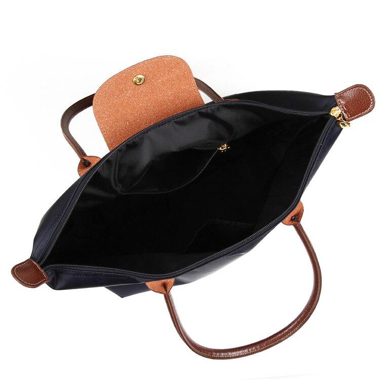 2021 Famous Brands Women Bags Shoulder Bag Handbag Waterproof Nylon Leather Beach bag Designer Folding Tote Bolsa Sac Feminina