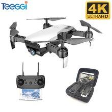 Teeggi M69G FPV RC Drone 4K avec 1080P grand angle WiFi HD caméra pliable RC Mini quadrirotor hélicoptère VS VISUO XS809HW E58 M69