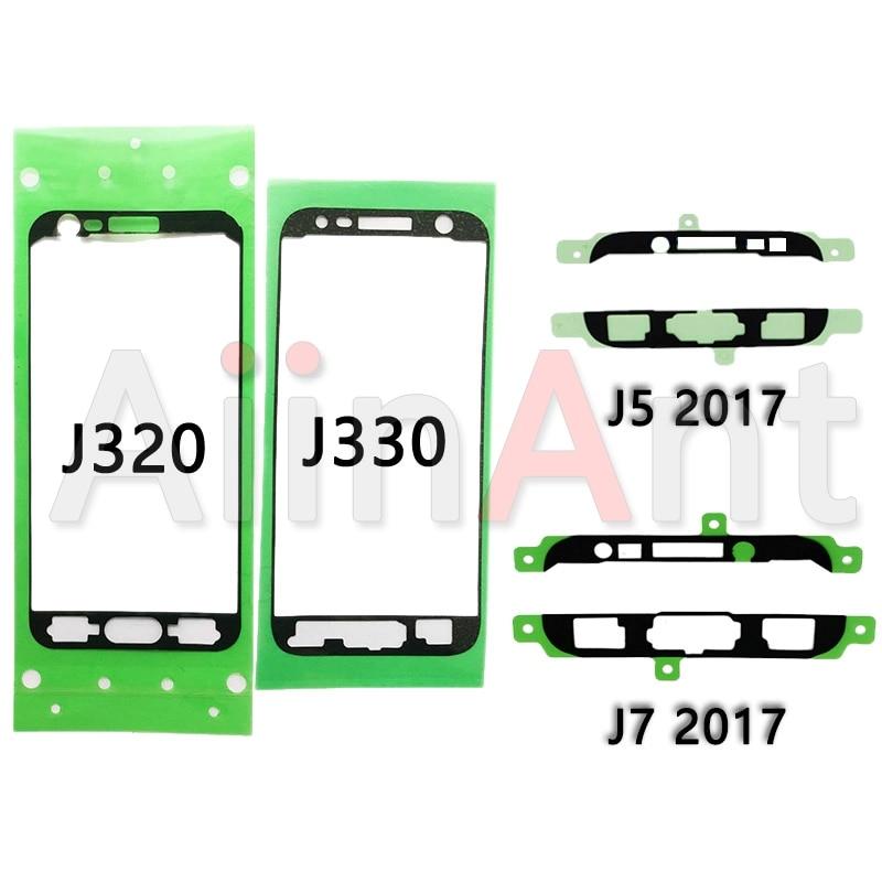 Pegatinas adhesivas originales para marco de pantalla LCD frontal para Samsung Galaxy J1 J2 J3 J5 J7 Prime J510 J530 J710 J730 2016 2017