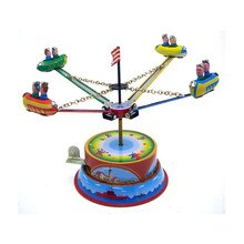 Classique Vintage horloge parc dattractions nostalgique liquidation enfants enfants étain jouets avec clé Amusement jouet cadeau pour enfants