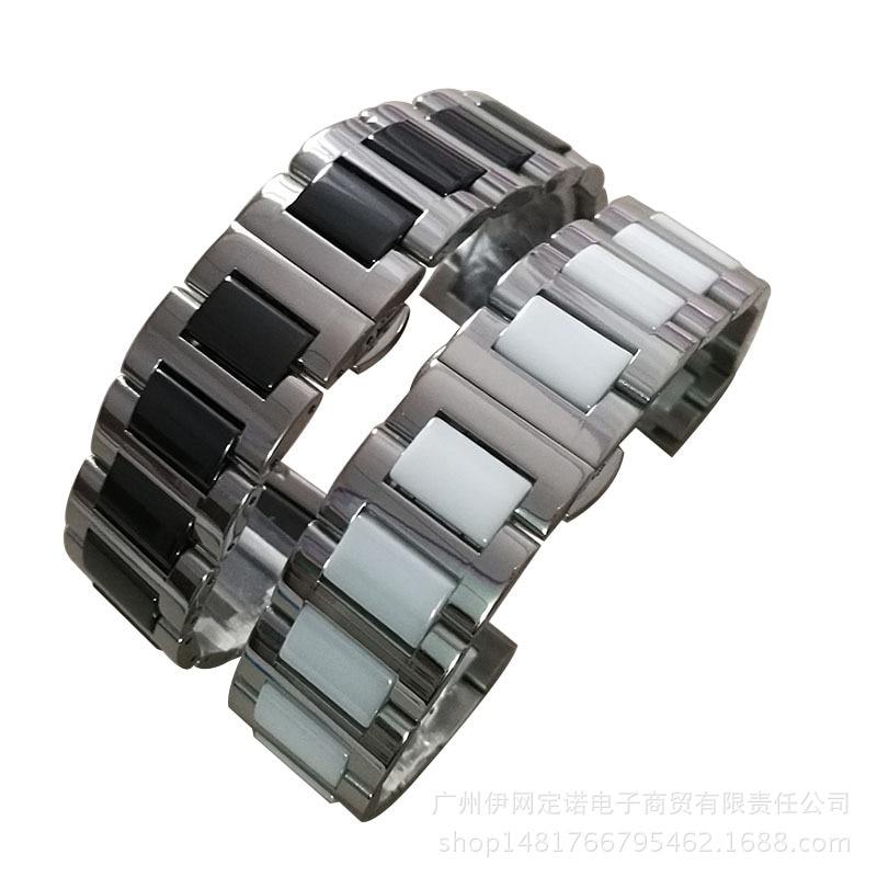 stainless steel ceramic strap for 22mm rolex Cartier Casio dw tissot Omega Longines GMT Samsung S2 bracelet men women watch band