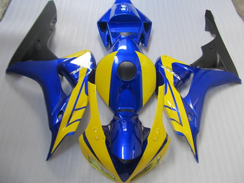 Kit de carenado de alta calidad de moldeo por inyección para Honda CBR1000RR 06 07 amarillo azul juego de carenados CBR1000RR 2006 2007 FC17