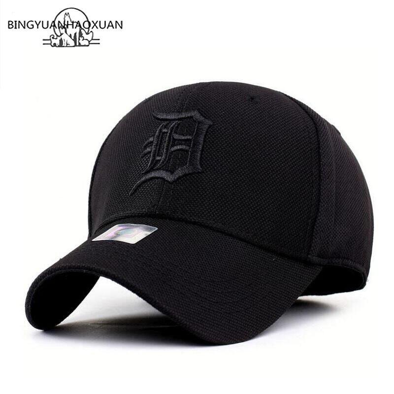 BINGYUANHAOXUAN מהיר ייבוש Snapback גברים מלא כובע כובע בייסבול ריצה כובע מגן שמש עצם זכר כובע Gorras 2019 חדש כובע