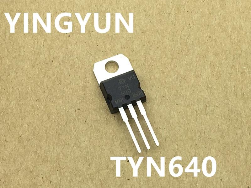 20PCS/Lot   TYN640RG TYN640  TO-220   Silicon controlled rectifier  New original saimi controlled semikron skkt122 16e new original scr modules