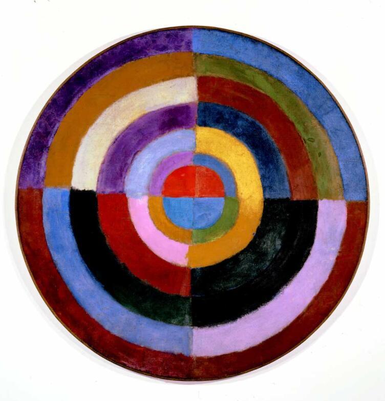 Reproduções da pintura a Óleo Da Lona de alta qualidade Premier Disque por Robert Delaunay pintados à mão