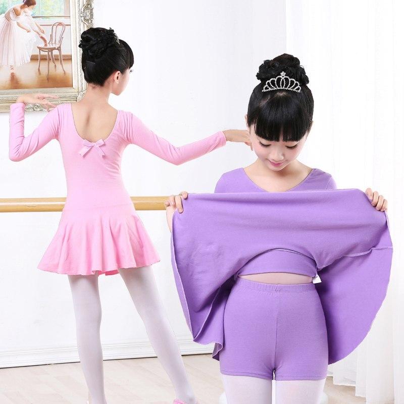 Pantalones cortos separados de algodón de alta calidad, traje de Ballet para niños, niñas, gimnasia, vestido de baile para Ballet, ropa de baile para niños