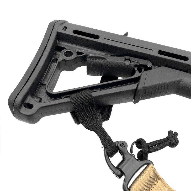 1 Pcs jacht Buttstock Sling Mount Strap Loop Adapter Singels Rifle Attachment Verstelbare Tactical Gun Sling Airsoft Sling