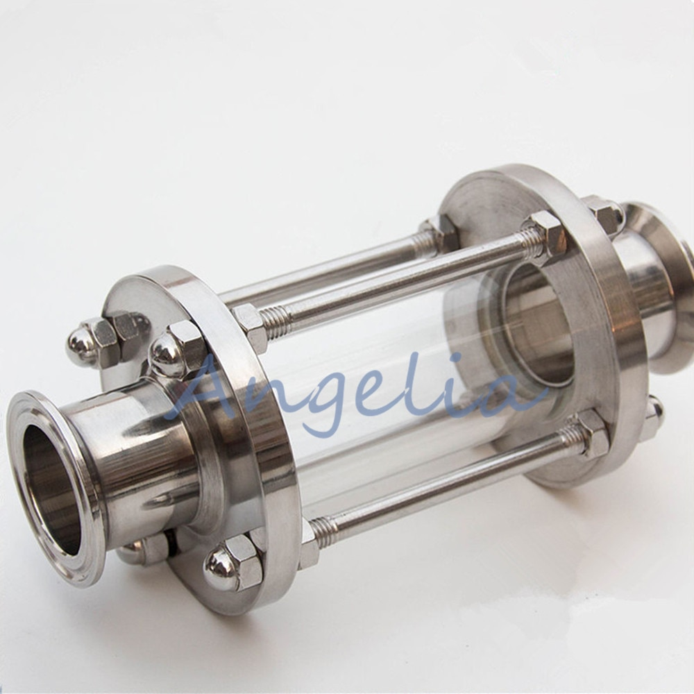 "1-1/2 ""flujo de acero inoxidable 304 Tri abrazadera Sanitary Sight Glass OD 50,5mm"