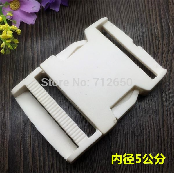 Free shipping 50mm Plastic Buckles White Color 10pcs/lot Garment School Bag accessories For wholesal