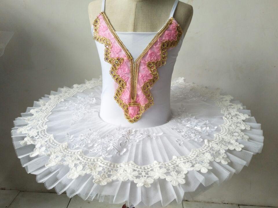 Top Quality Swan Lake White Tutu Dress Classical Ballet Dance Tutu Dress Girls Ballet Dancing Tutu Dress Adult Costumes  B-6480