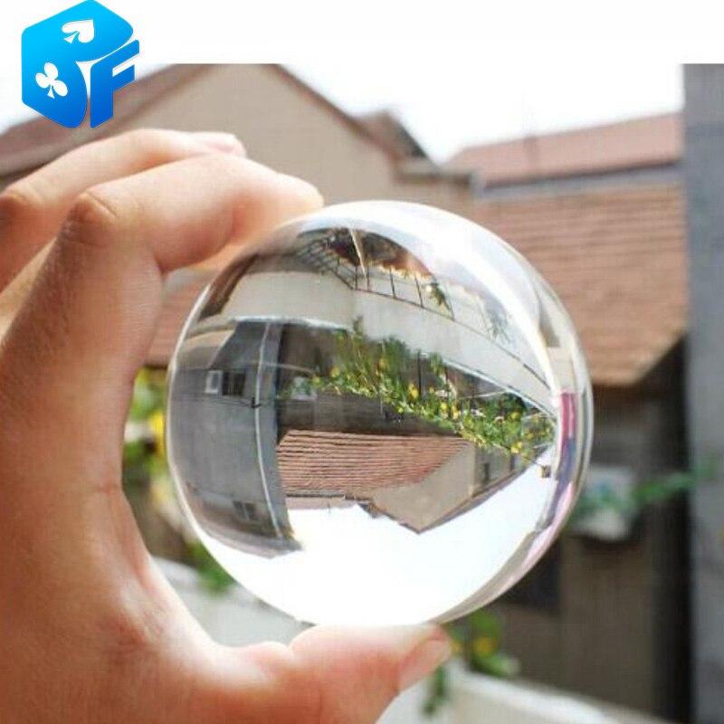 80mm-bola de cristal ligera/malabares de contacto/trucos de magia accesorios mágicos envío gratis