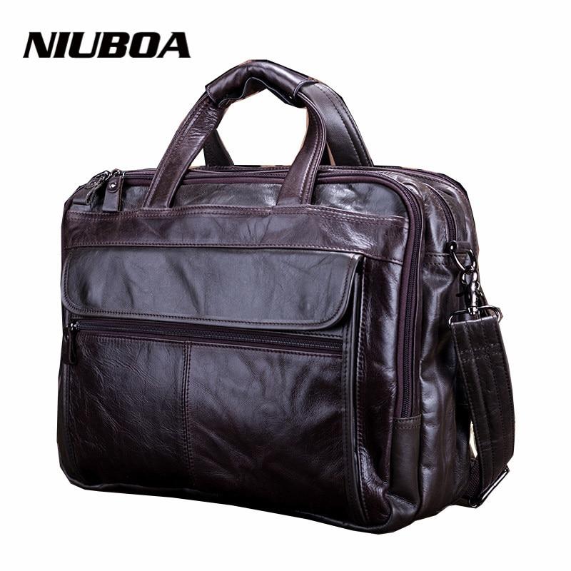 Мужская сумка-мессенджер, из 100% натуральной воловьей кожи, для ноутбука