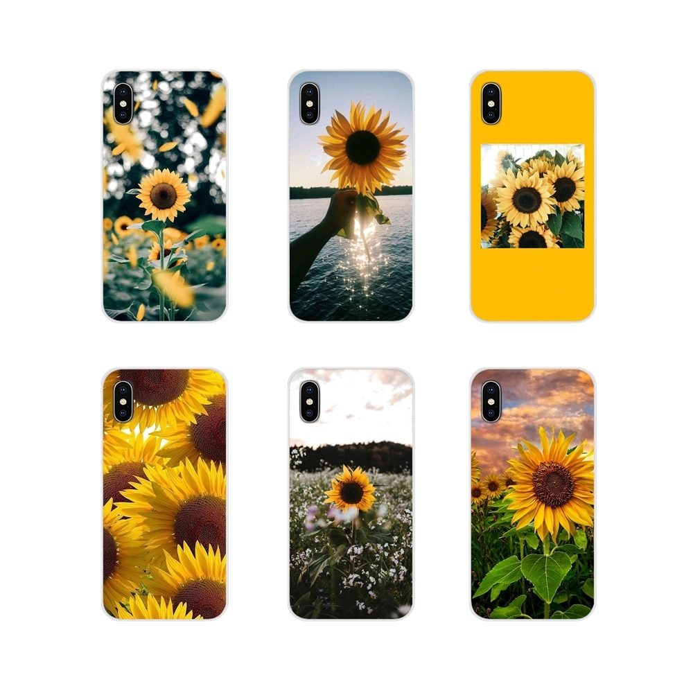 Accesorios de la cáscara del teléfono cubre amarillo girasol flor Samsung Galaxy A3 A5 A7 J1 J2 J3 J5 J7 2015 de 2016 a 2017