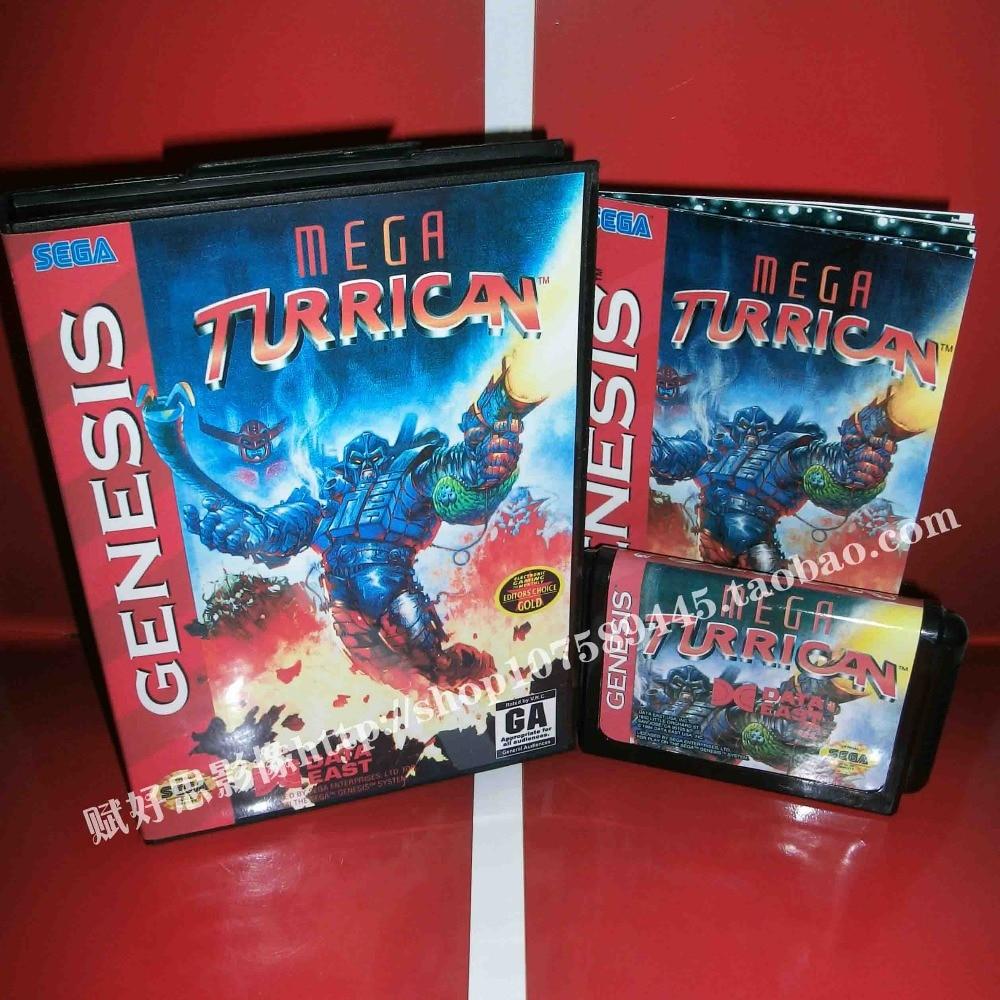 Sega MD juego-Mega Turrican con caja y Manual para 16 poco Sega...