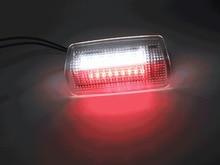 2 adet beyaz + kırmızı LED nezaket kapı ışığı Lexus ES LS LX RX GS GX LC RC toyota Crown Land Cruiser Prado Highlander Reiz