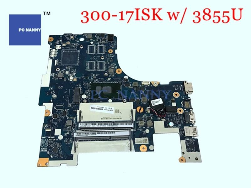 Placa base PCNANNY 5B20K61875 BMWD1 NM-A491 para Lenovo Ideapad 300-17ISK Core Celeron 3855U DDR3 placa base para ordenador portátil