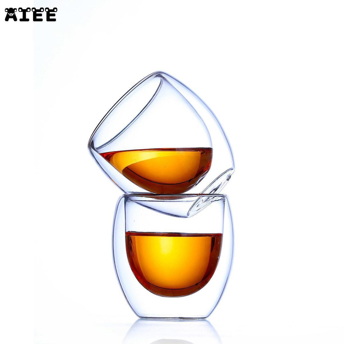 6 Pcs Bodum Pavina Design Egg Shape Double Wall Anti Scald Mini Tea Cup Shot Glass Household Teacup Nespresso Tumbler Bicchiere