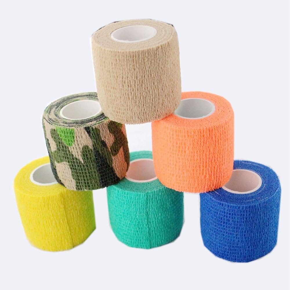 12 unids/lote 2x5 yards nuevo vendaje profesional de agarre de tatuaje vendaje colorido elástico cohesivo vendaje para mascotas suministro de envío gratis