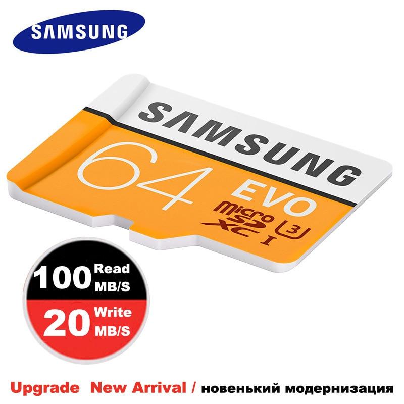 Tarjeta de Memoria Micro SD SAMSUNG 64gb 32gb Clase 10 tarjeta TF tarjeta microsd SDHC/SDXC UHS-I para cámara deportiva y teléfono móvil