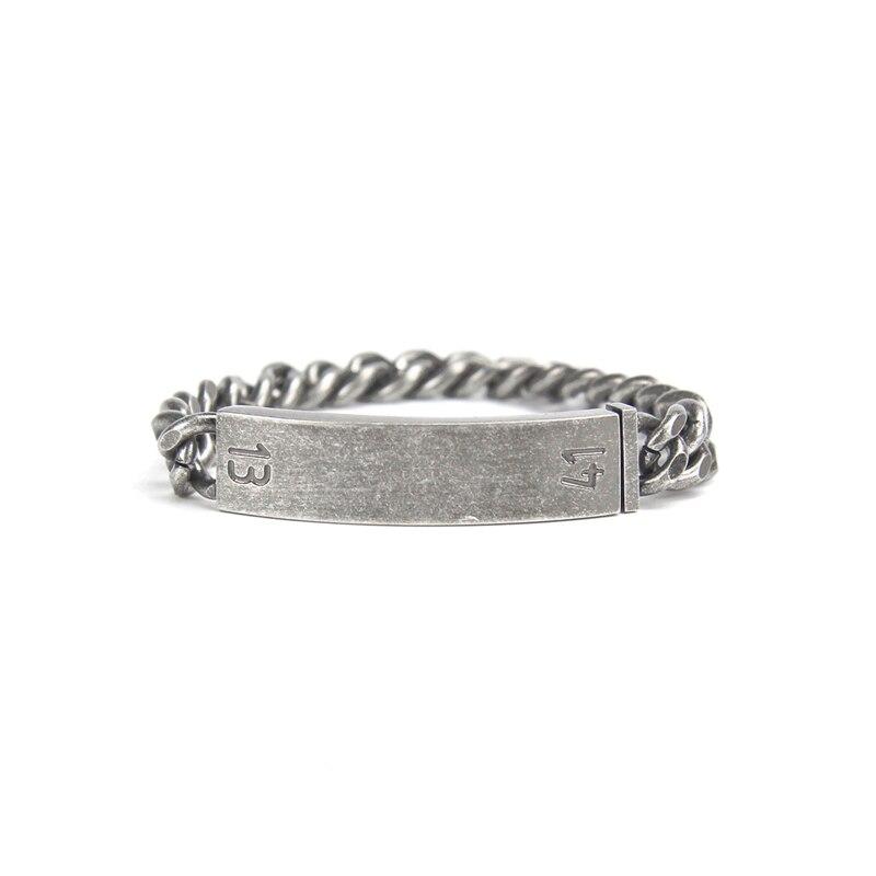 Nuevo estilo de pulsera de acero inoxidable para hombre, pulseras de doble giro Eslabón cubano 1314, pulseras de joyería masculina