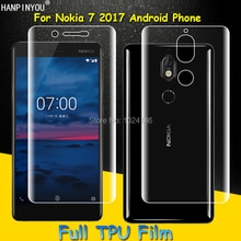 Front / Back Full Coverage Clear Soft TPU Film Screen Protector For Nokia 7 2017 5.2