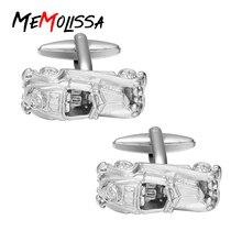 MeMolissa shirt cufflink for mens Brand cuff button Vintage car Business cuff links High Quality abotoaduras Jewelry