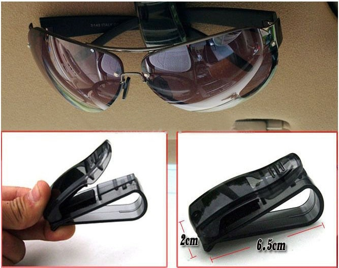 2018 gran oferta de Clip de sujeción automático accesorios del coche del ABS para parasol de vehículo gafas de sol lentes gafas titular de Clip