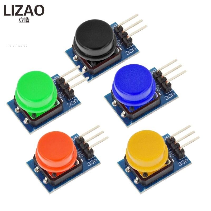 5 PCS 12X12 MM Großen schlüssel modul WAVGAT Große taste modul Licht touch schalter modul mit hut Hohe ebene ausgang für arduino