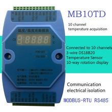 Module dacquisition de température multicanal DS18B20 10 RS485 Modbus RTU