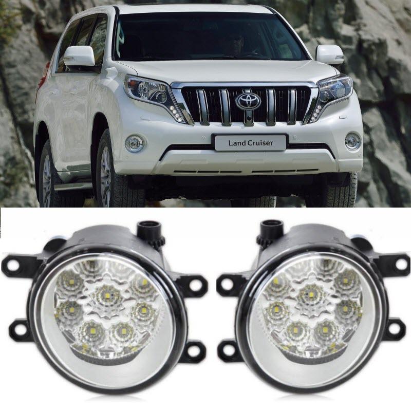 Auto-Styling Für Toyota Land Cruiser Prado 9-Stück Leds Chips LED Nebel Kopf Lampe H11 H8 12V 55W Halogen Nebel Lichter
