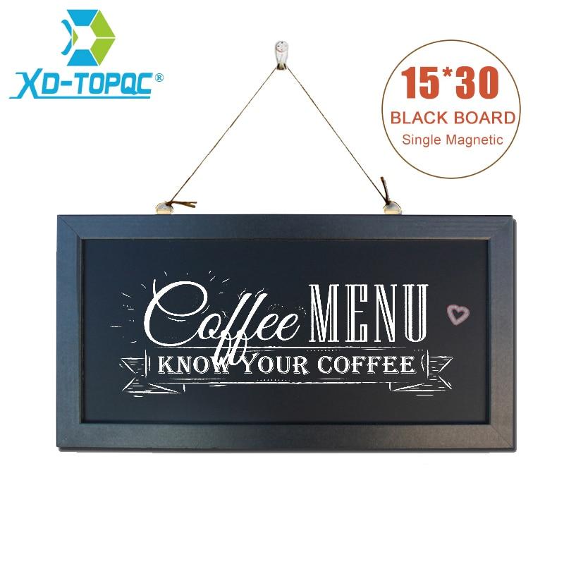 "6"" x 12"" Chalkboard New MDF Wood Frame Magnetic 15*30cm Blackboard Dry Wipe Chalk Board Memory Board With Free Accessories"