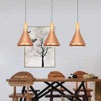 vintage industrial lighting loft lamp wood pendant lights american aisle lights retro lamp coffee bar lighting