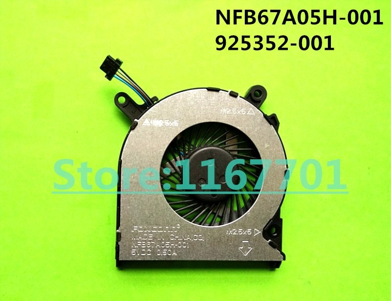 Nuevo ventilador de refrigeración Original para ordenador portátil/portátil CPU para HP FOXCONN NFB67A05H-001 925352-001