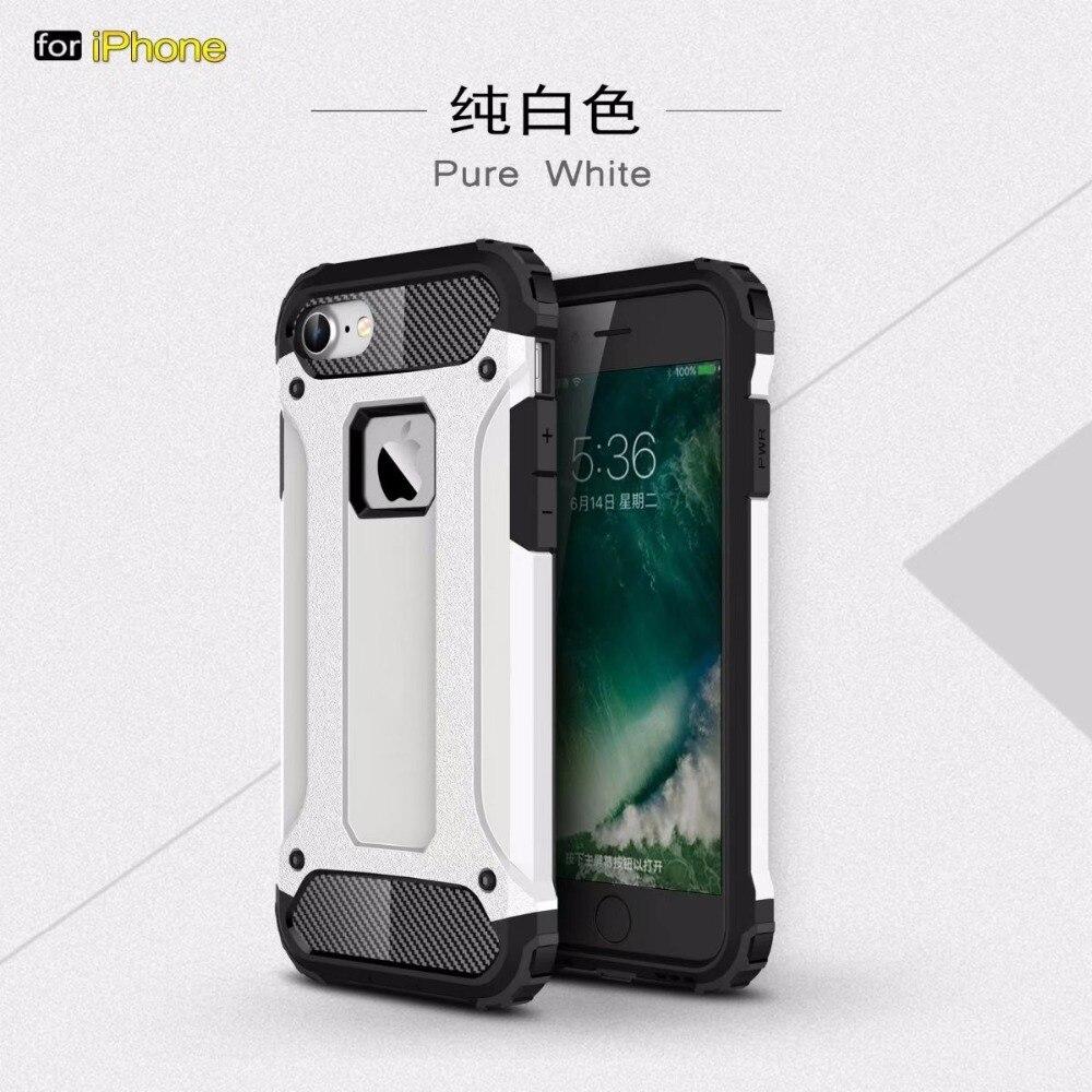 Para iphone X funda Ultra delgada a prueba de golpes resistente Impct híbrido armadura silicona Back funda para iphone 5 y 5s SE 6 6s 7 8 plus Coque