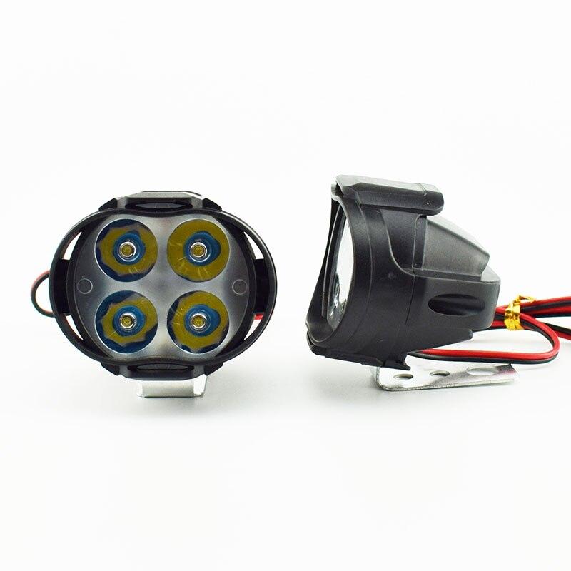 Faro LED para motocicleta LED 12V 6500k lámpara antiniebla súper brillante moto rbike Spot lights moto lámpara auxiliar de trabajo foco faro