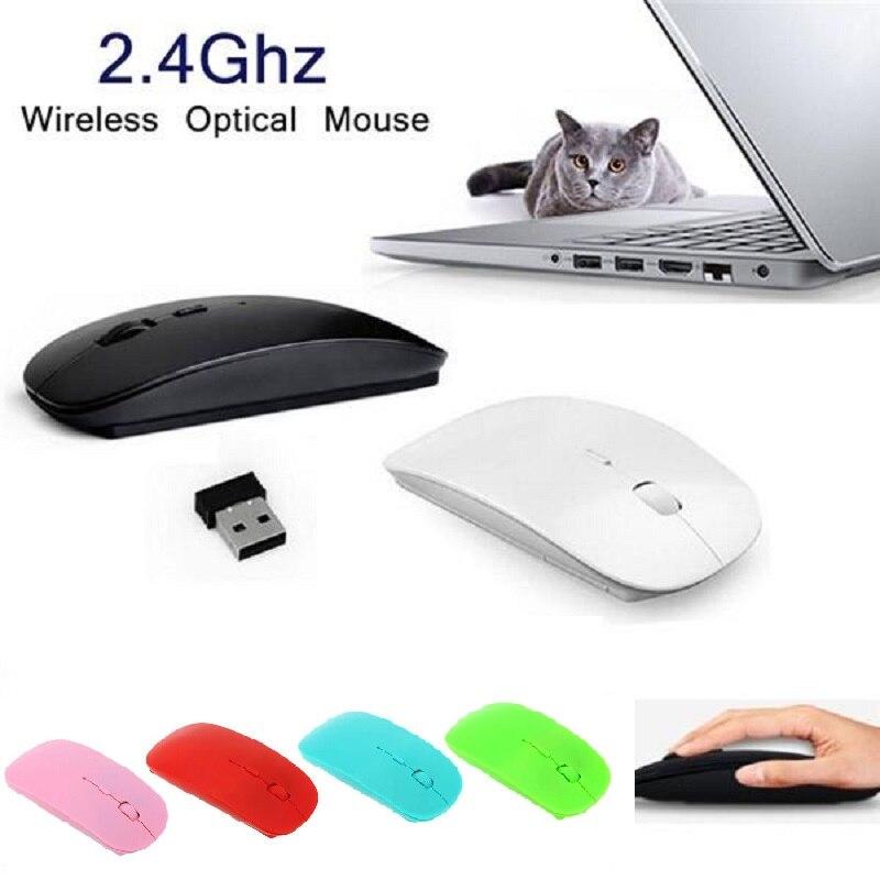 Alta qualidade silencioso 2.4g mouse sem fio com botão silencioso para computador portátil android tv