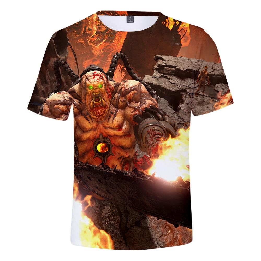 Hohe Qualität Doom Ewige T-shirt Männer/Frauen Mode Lässig Rundhals T-Shirt 3D Druck Doom Ewige Kurzarm T-shirts tees