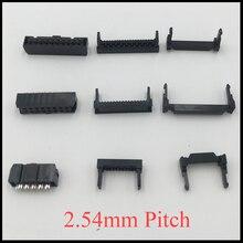 FC 16P 18P 20P 24 P 16 18 20 24 broches 2.54mm pas Double rangée espace fai IDC connecteur câble plat femelle en-tête corne prise boîte