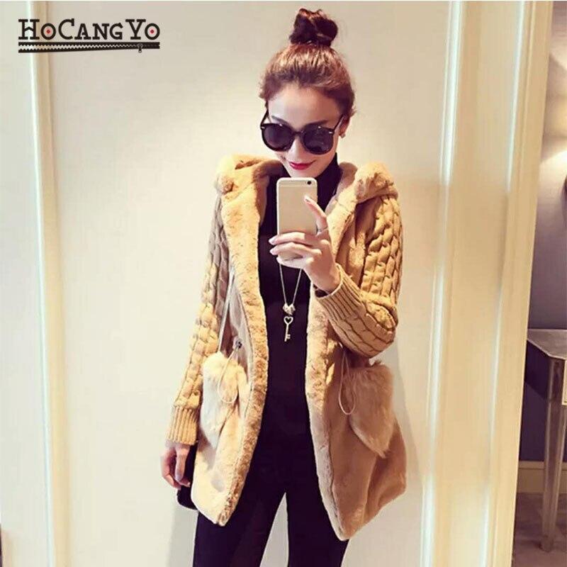 HCYO-معطف نسائي مخلوط ، نحيف ، بغطاء للرأس ، سحاب ، أكمام طويلة ، صلب ، دافئ ، قطن ، معاطف خارجية نحيفة ، مقاس كبير