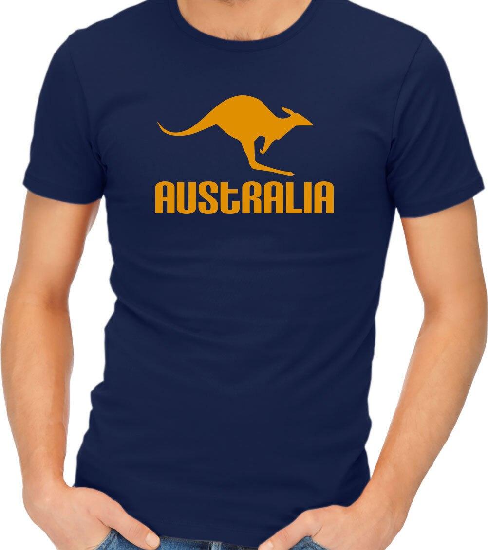 Proste z krótkim rękawem koszulka bawełniana Australia kangur Native koszulka dla dorosłych Tshirt Tee O-Neck T Shirt mężczyźni