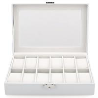 Новый ящик для хранения часов, белый чехол с 12 ячейками для многофункциональных браслетов, шкатулка для демонстрации часов, подставка под ч...