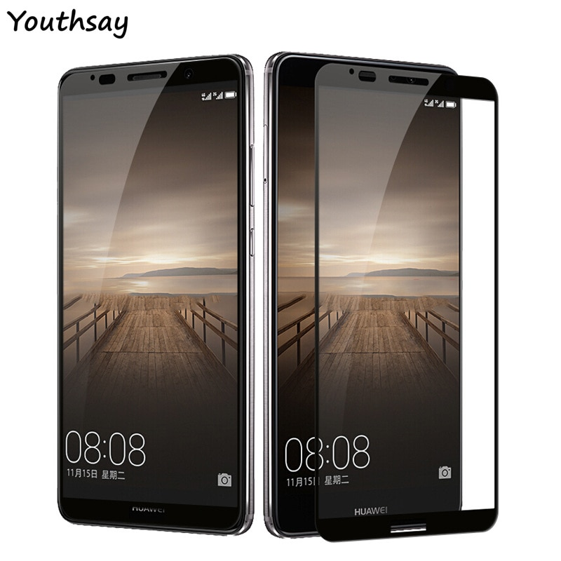 2PCS Glass Huawei Mate 10 Pro Screen Protector Full Cover Curved Edge Glass For Huawei Mate 10 Pro Full Glass Mate 10 Pro Film