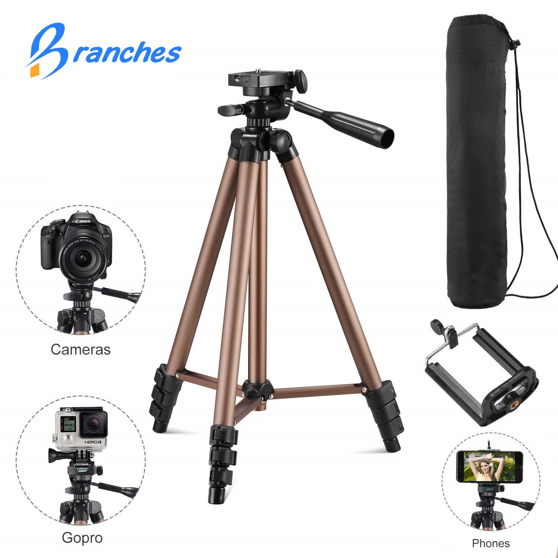 Tripé de câmera leve tripé portátil universal para o telefone móvel tripé profissional para canon sony nikon câmera smartphone